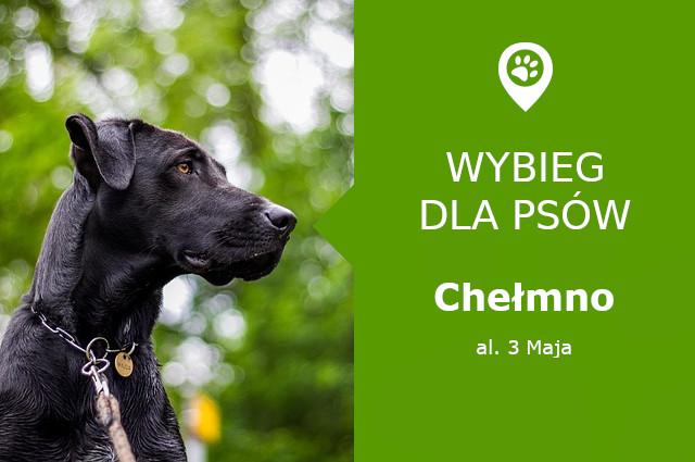 Wybieg dla psów Chełmno, al. 3 Maja, za Pomnikiem Żołnierzy Armii Radzieckiej, kujawsko-pomorskie